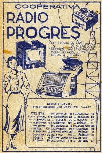 Radio Progres reclama rev. Colectia de povestiri SF nr 70.jpg
